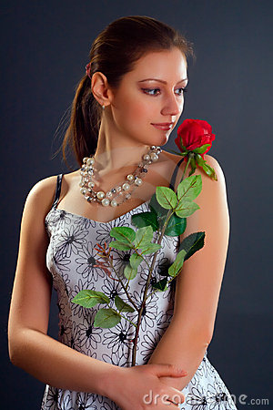 Woman with rose