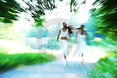 Woman run