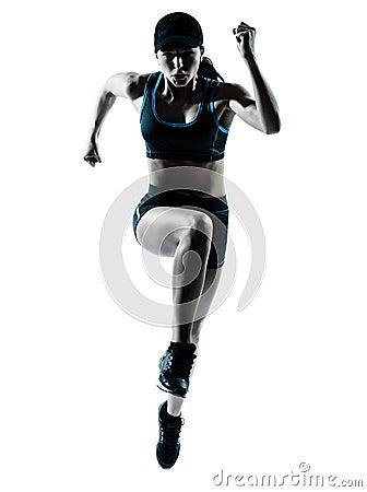 Free Woman Runner Jogger Jumping Stock Photo - 25445500