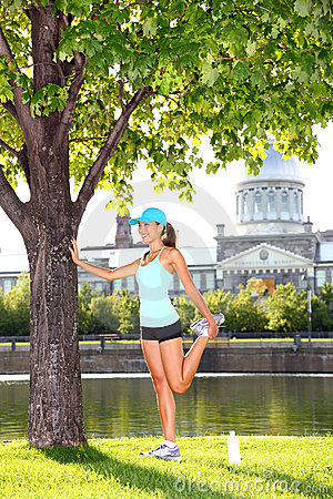 Woman runner in Montreal