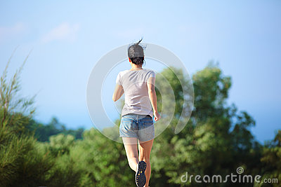 Woman runner outdoor