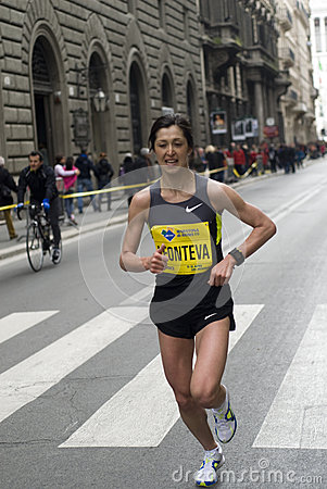 Woman Runner Editorial Image