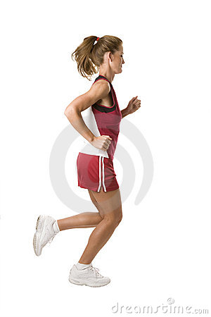 Free Woman Running Stock Image - 4078451