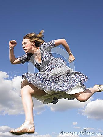 woman running dress 12052629