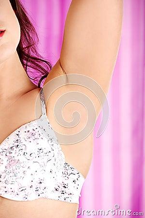 Woman s armpit.