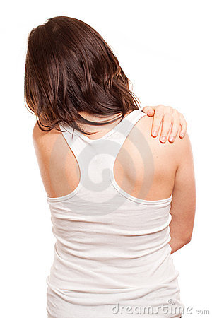 Woman`s back in pain