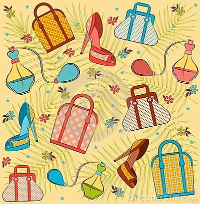 Free Woman S Bag, Perfume And Shoes. Royalty Free Stock Images - 20307079