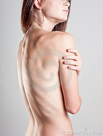 Woman s bare back
