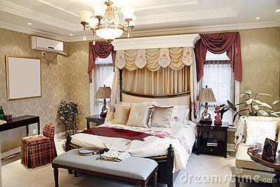Woman s bedroom interior