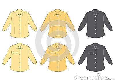Woman s blouse, long sleeve