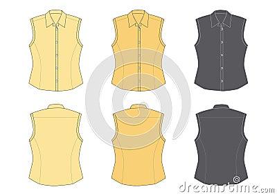 Woman s blouse, sleeveless