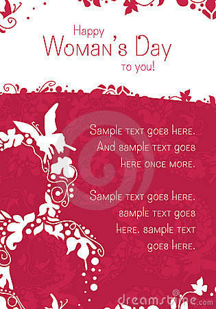 Free Woman S Day Postcard Stock Photo - 18552970