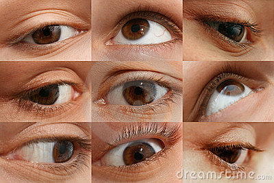 Woman s eye set