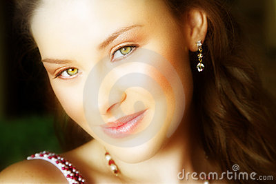 Woman s face close-up