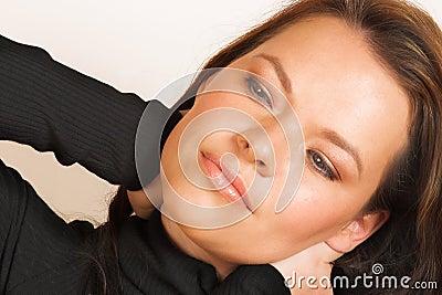 Woman?s face close-up