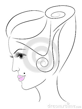 Woman s face in profile