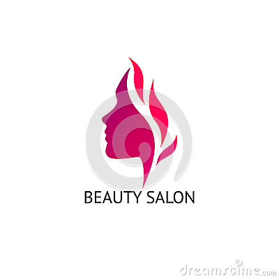 Woman 39 s face silhouette stock vector image 58472869 for Abstract beauty salon