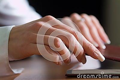 Woman s hand