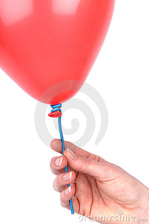 Woman s Hand Holding A Balloon