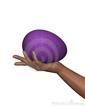 Woman s Hand holding Easter Egg