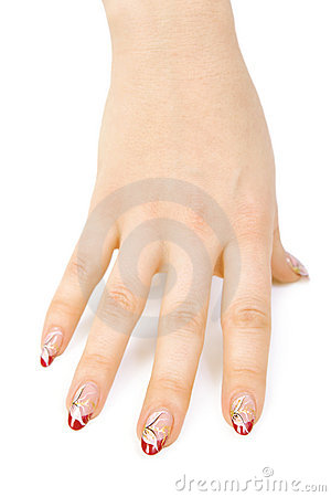 Woman s hand with a nice manicure
