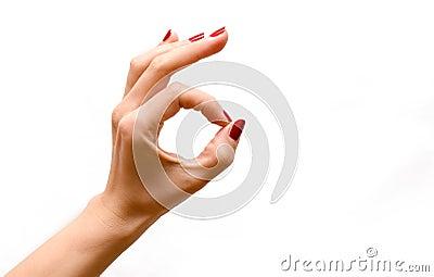 Woman s hand OK