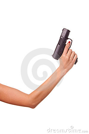 Free Woman S Hand With A Gun Stock Photography - 11968322