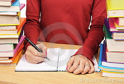 Woman s hand writing