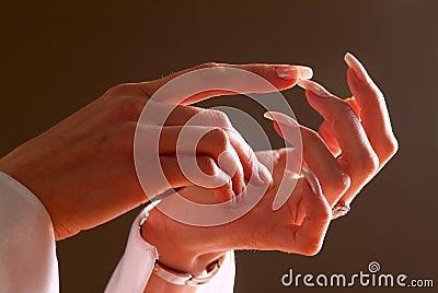 Woman s hands