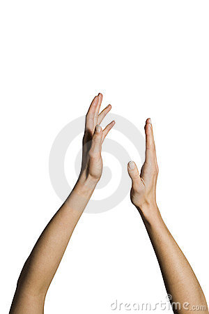 Woman s hands clapping