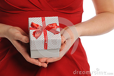 Woman s Hands Holding Gift