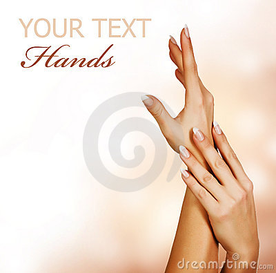 Womans Hands.Manicure