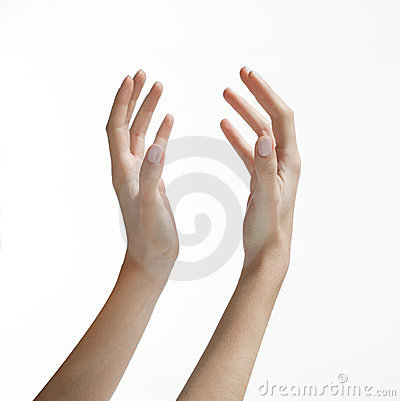 Woman s Hands Reaching Up