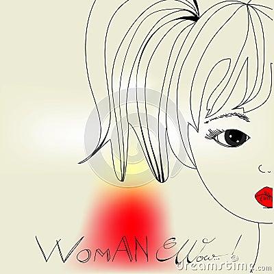 Woman s head