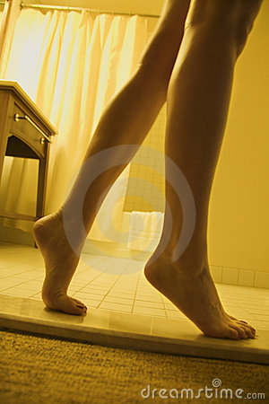 Woman s legs and feet.