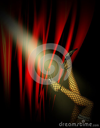 Free Woman S Legs In Cabaret Stock Photo - 33184820