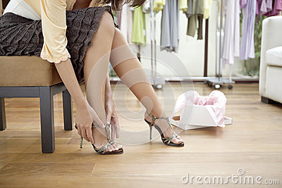 Woman s Legs with Shoes