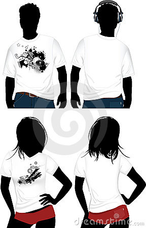 Woman s and man s t-shirt.