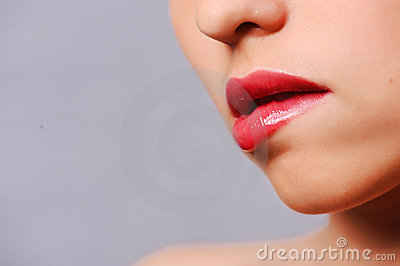 Woman s red lips