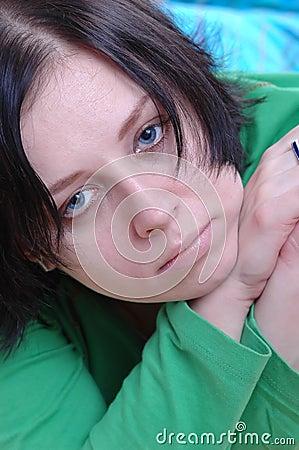 Woman s sad face