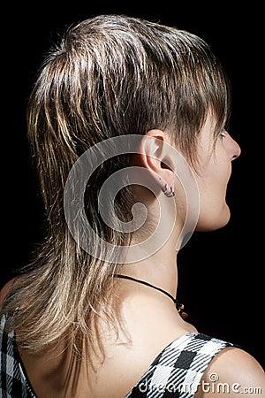 Woman s short haircut