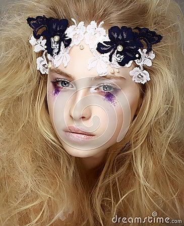 Woman s Skin - Blue Eyeshadow. Meekness.