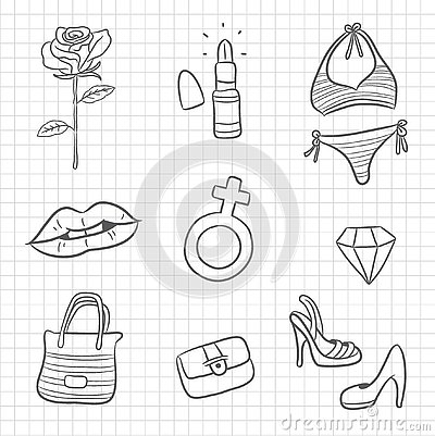 Woman`s symbol and icon Stock Photo