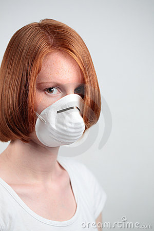Woman with Safety Mask