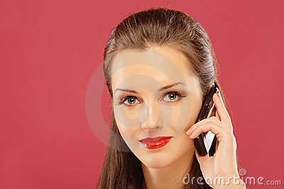 Woman said by mobile phone