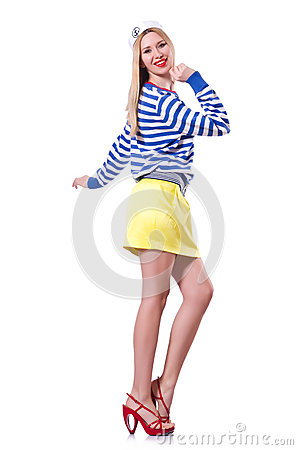 Woman in sailor costume