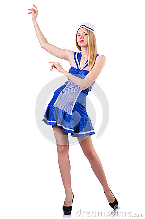 Woman in sailor suit