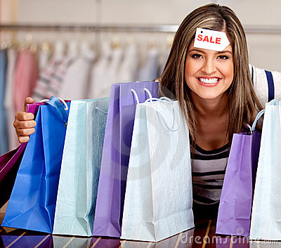 Woman On Sale Royalty Free Stock Photos - Image: 21849098