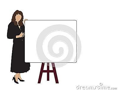 Woman Sales Meeting