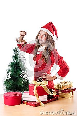 Woman santa claus